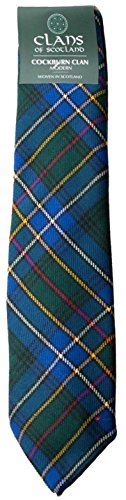 I Luv Ltd Cockburn Clan 100% Wool Scottish Tartan Tie