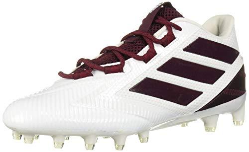 adidas Men's Freak Carbon Low Football Shoe, White/Maroon/White, 11.5 M US