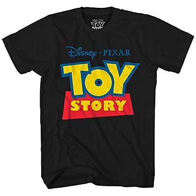 Disney Pixar Toy Story Logo Disneyland World Tee Funny Humor Men's Graphic T-Shirt (Black, X-Large)