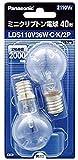 パナソニック ミニクリプトン電球 40形 クリア (110V) LDS110V36WCK2P 1パック(2個)