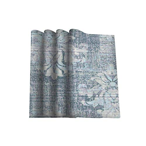 Manteles individuales lavables de algodón con diseño de huevo de pato azul vintage para mesa de comedor