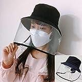 Anti-sputo Cappello Goggle protettivo Copertina Doppia protezione saliva - All'aperto Cappello da pescatore Dimensioni regolabili