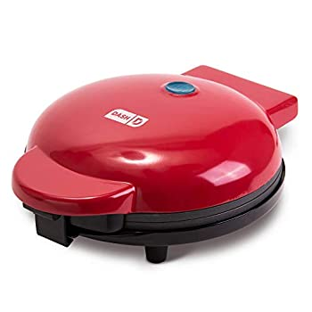"""Dash 8"""" Express Electric Round Griddle for for Pancakes Cookies Burgers Quesadillas Eggs & other on the go Breakfast Lunch & Snacks - Red"""