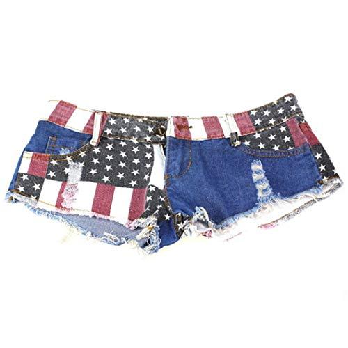 Pantaloni da Donna Estate Shorts Mini Lhwy Jeans Casual Moderna Pantaloni Caldi Denim Pantaloni A Vita Bassa Ragazze Adolescenti da Uomo (Color : Multicolor, One Size : S)