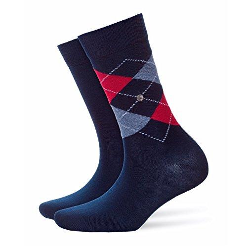 Burlington Everyday 2-Pack Damen Socken marine (6120) 36-41 aus weicher gekämmter Baumwolle