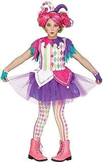 52f7a7aff59dc Fancy Me Filles Enfants Ados Clair BOUFFON Clown Cirque Carnaval Halloween  Arc-en-Ciel