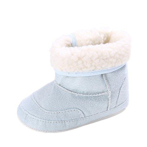 Zapatos de bebé Auxma Botas para la Nieve Suave de la suavidad del bebé Zapatos Suaves del Pesebre Botas del niño para 0-6 6-12 12-18 Mes (11cm/3-6 M, Azul)