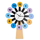 ACRD Reloj De Pared Personalizado, Movimiento Silencioso Estilo Moderno Claro Interesante Puntualidad Mudo Visualización De La Hora Montado En La Pared Reloj Decoración de Tiempo