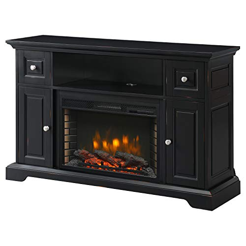 Muskoka Sutherland 53-in Media Aged Black Electric Fireplace