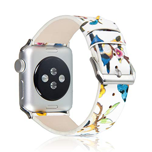 Pantheon Compatible with Apple Watch Band 38mm 40mm for Women - Floral Leather Compatible iWatch...
