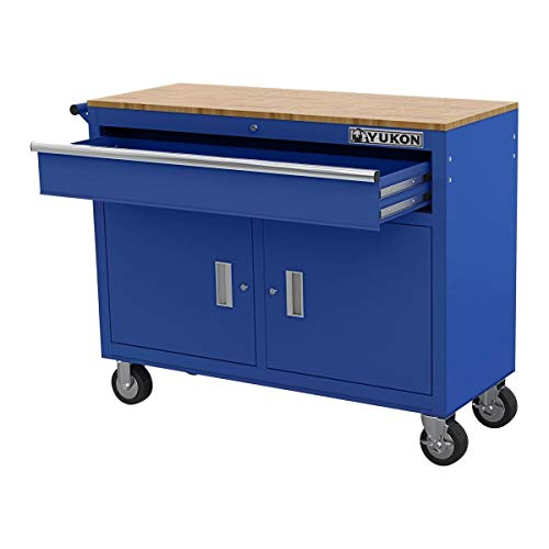 Yukon 46' Mobile Workbench With Solid Wood Top