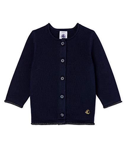 Petit Bateau Cardigan_5080201 Chaqueta Punto, Azul (Smoking 01), 86 (Talla del Fabricante: 18M/81centimeters) para Bebés