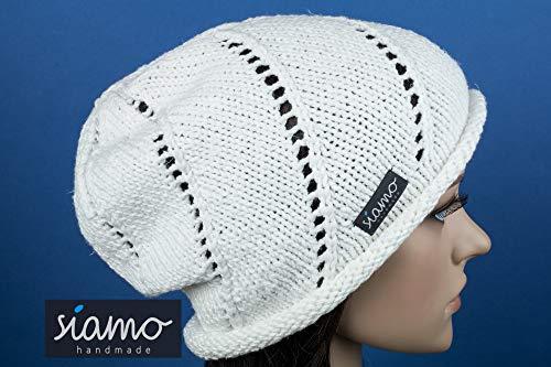 Sommer-Beanie ROM II weiß Sommer-Mütze von siamo-handmade Baumwoll-Mix