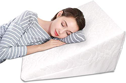 Orthologics Wedge Pillow for Bed & Couch Made Foam, use as a Reading and Relax Cushion