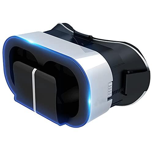 KJWXSGMM Auriculares VR, Gafas de Realidad Virtual en 3D, Casco VR, Juegos de Realidad Virtual y películas en 3D para iPh X/7/6s 6/Plus,s8/ s7con Pantalla de 4,7 a 6,3 Pulgadas