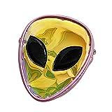 Giovacker Kid Aliens Transparent Holographic Shoulder Bag for Girls, Travel Makeup Satchel Backpack