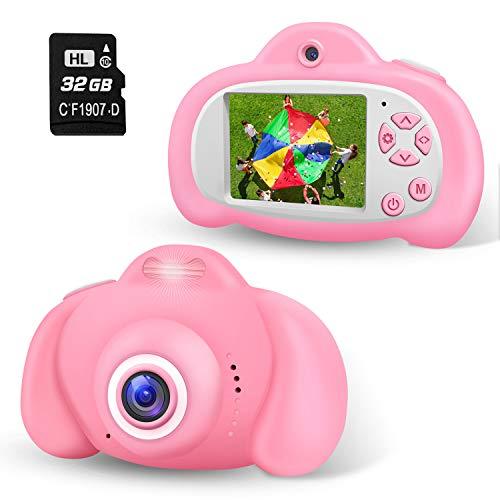 2NLF Cámara de Fotos para Niños 2.0'' LCD 8MP 1080P HD Camara Fotos Infantil con Tarjeta de Memoria Micro TF 32GB Custodia Protettiva Cámara Infantil Regalos Juguete para 3 a 12 Años
