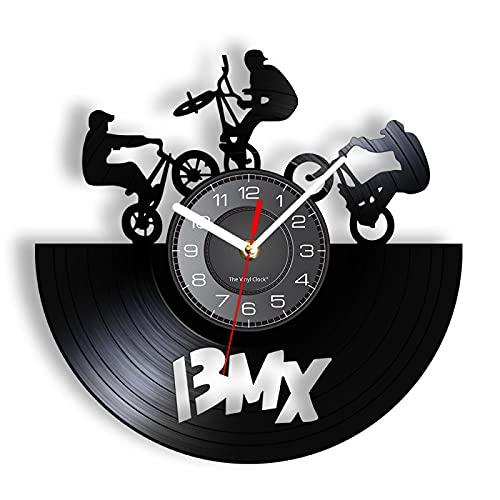 LIMN Orologio da Parete da 12 Pollici Freestyle BMX Orologio da Parete per Bici Sport Decorazioni per la casa Bicicletta Motocross