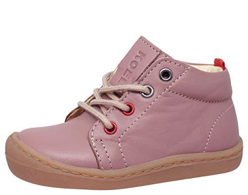 Koel4kids - Zapatillas de Piel orgánica para Aprender a Andar, Color Rosa, Talla 20 EU Schmal