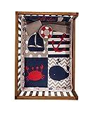 JORGE'S HOME FASHION INC Limited Edition Nautical Baby Boys Crib Bedding Set Nursery Set 6 PCS 100% Cotton