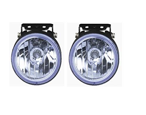 HABILL-AUTO Jeu de phares additionnels Longue portée Bleu 12V 55W H3 Diam. 105mm