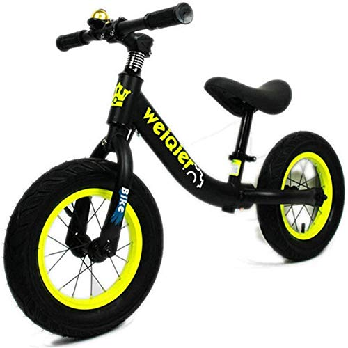Affordable YPYJ 12 Kids Balance Bike with Brake and Bell for Kids and Toddlers No Pedal Air Tires A...