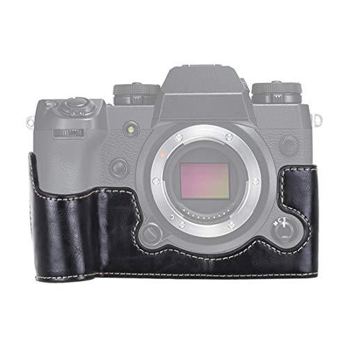 YAOLAN Kameratasche & Zubehör Tasche 1/4 Zoll Faden PU Leder Kamera Half Case Base for FUJIFILM X-H1 (Schwarz) (Color : Black)