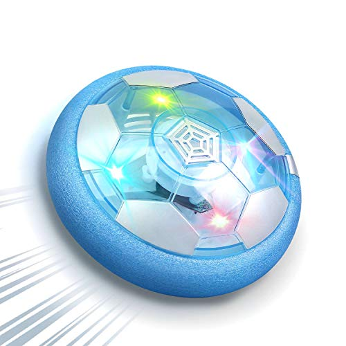 DEERC Kid Toys DE47 Hover Soccer Ball, Soft Eva Material Foam Bumper and Rechargeable Air Indoor Soccer for Kids Toy with LED Lights, Best Gifts for Toddlers, Boys, and Girls, No AA Battery Needed