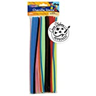 Creativity Street Jumbo Chenille Stem Multi-Purpose, 1/4 X 12 Inches, Assorted Color, Pack of 100