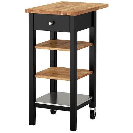 IKEA STENSTORP - carrito de cocina de, Negro-Brown - madera ...