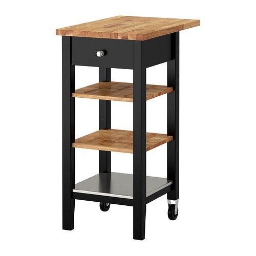 IKEA STENSTORP–Cocina carro, marrón, Madera de roble