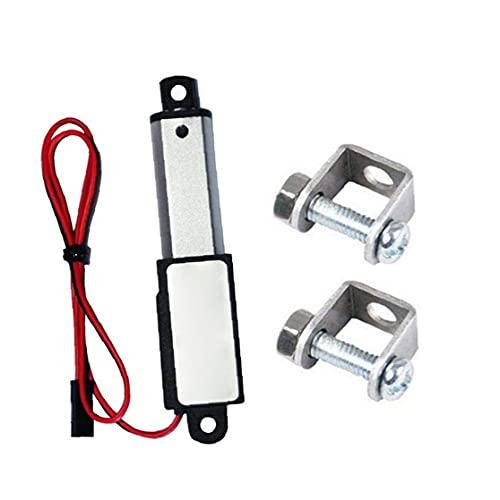 NaiCasy Micro actuador Lineal eléctrico Mini Impermeable con Soportes de Montaje 12v 60n Longitud de Carrera de 15 mm 50 mm Velocidad