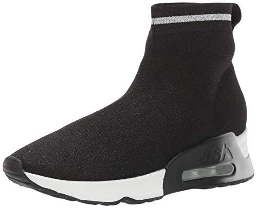 ASH Women's AS-Lovely Sneaker, Black/Dark Silver, 36 M EU (6 US)