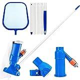 Gafild Los Accesorios del Kit de Limpieza Limpieza de la Piscina de la Red del Aspirador del vacío de la Piscina con la Red del Skimmer de la Hoja de la Piscina del Polo para Estanques