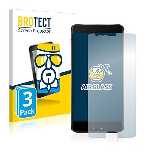 BROTECT Protector Pantalla Cristal Compatible con OnePlus 3T Protector Pantalla Vidrio (3...