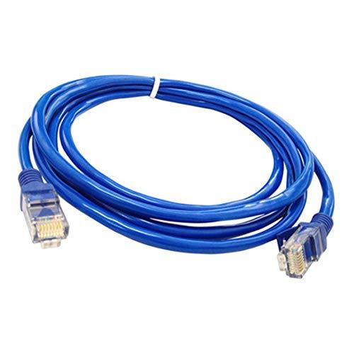 SeniorMar Cable Ethernet Plano RJ45 Cable LAN Conexión en Red Cables LAN Cable de conexión Ethernet para enrutador de computadora Laptop, Azul - 5m