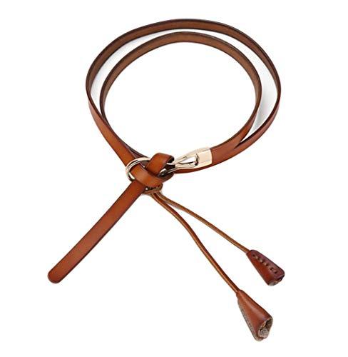Oyccen Cinturón Fino de Mujeres Anudado Cinturones de Cuero Correa de Cintura con Borla para Vestido Pantalones