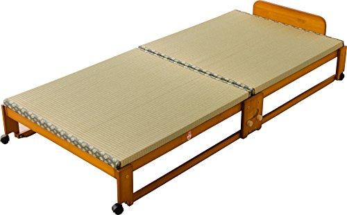 エムール 折りたたみベッド 日本製 い草畳 シングル