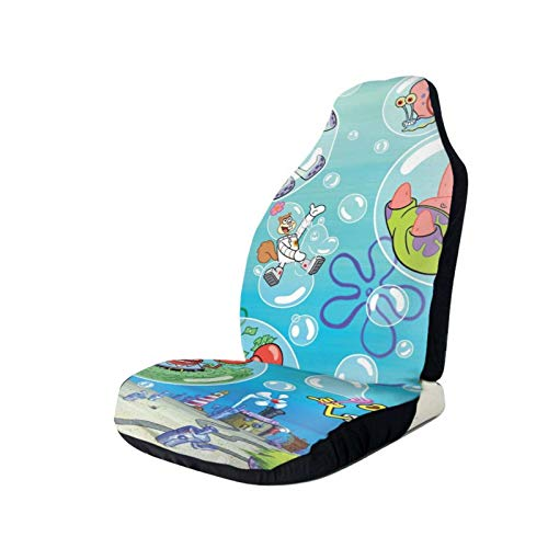 Spongebob Square-Pants Printed Car Seat Covers Front Seat Protector Cover for Most Car,SUV Sedan & Truck