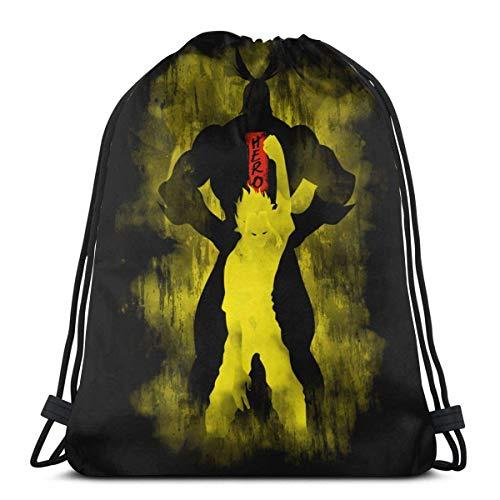 WH-CLA Cinch Bags All Might The Last Fight Gym Lagerung Goodie Taschen Kordelzug Rucksäcke Anime Cinch Taschen Leichte Sportverpackung Geschenktüte Langlebige Gunst Taschen Party Print Ko