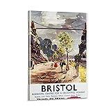 DENGHOU Vintage-Poster Bristol-Eisenbahn-Poster,