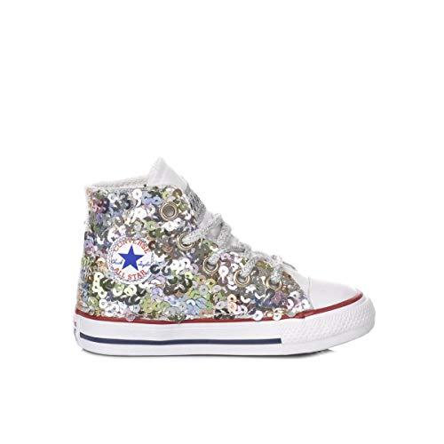 Converse Luxury Fashion Baby MI1338 Weiss Stoff Hi Top Sneakers   Jahreszeit Permanent