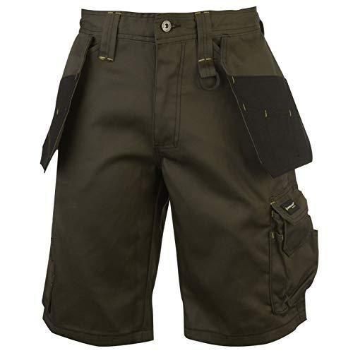 Dunlop Herren On Site Cargo Shorts Safety Kurze Hose Arbeitshose Arbeitskleidung Schwarz Extra LGE