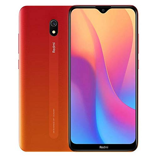 Xiaomi Redmi 8A (32GB, 2GB RAM) 6.22' HD Display, Snapdragon 439, 5000mAh Battery, Dual SIM GSM Unlocked - US & Global 4G LTE International Version (Sunset Red, 32 GB)