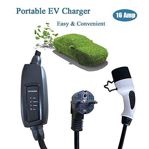 Tipo 2 16A EV Cargador Cable Carga para Vehículos Eléctricos Enchufe Portátil...