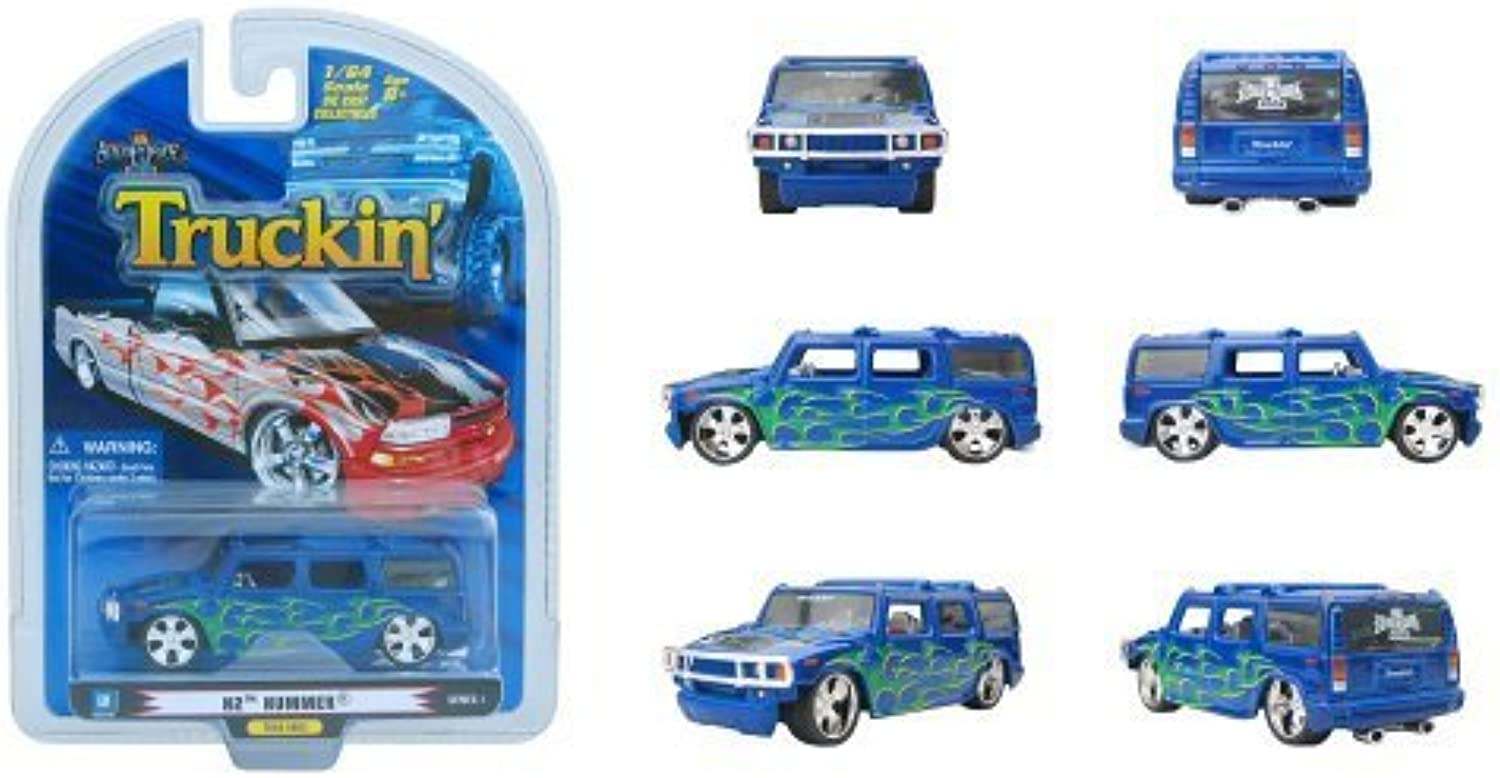 2006 Truckin' Red White bluee Hummer H2 Diecast Vehicle 1 64 Scale by ProMarkCo