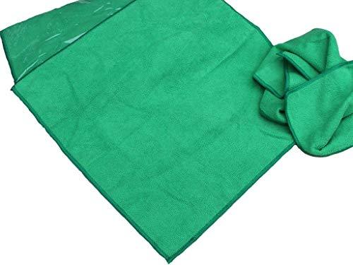 S&S 10x Microfasertücher Grün 40x40 cm │ Fusselfrei │ saugstarke Haushaltshilfen │ Allzwecktuch