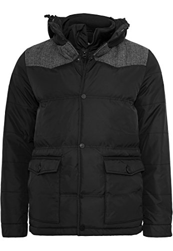 Urban Classics Material Mixed Winter Jacket Blouson, Multicolore (Blk/Gry 00029), Medium Homme