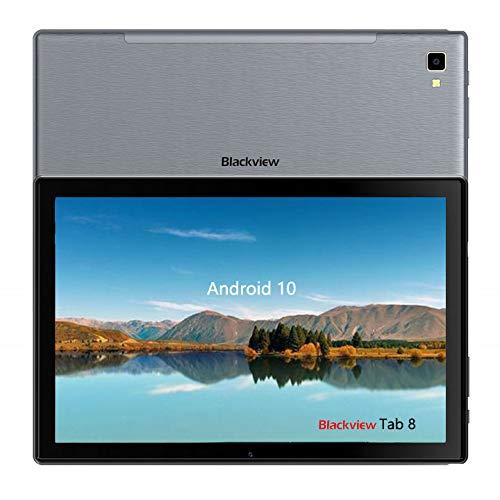 Blackview Tab8 Tablet da 10,1 pollici, Full HD (WLAN, 4 GB di RAM + 64 GB di ROM, Android 10.0, Octa Core, batteria da 6580 mAh
