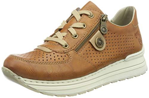 Rieker Damen N6925 Sneaker, Braun, 38 EU